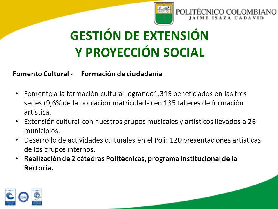 GESTIÓN DE EXTENSIÓN Y PROYECCIÓN SOCIAL