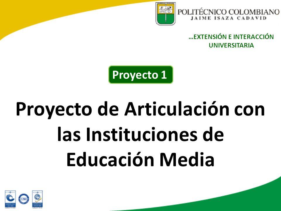 Proyecto de Articulación con las Instituciones de Educación Media