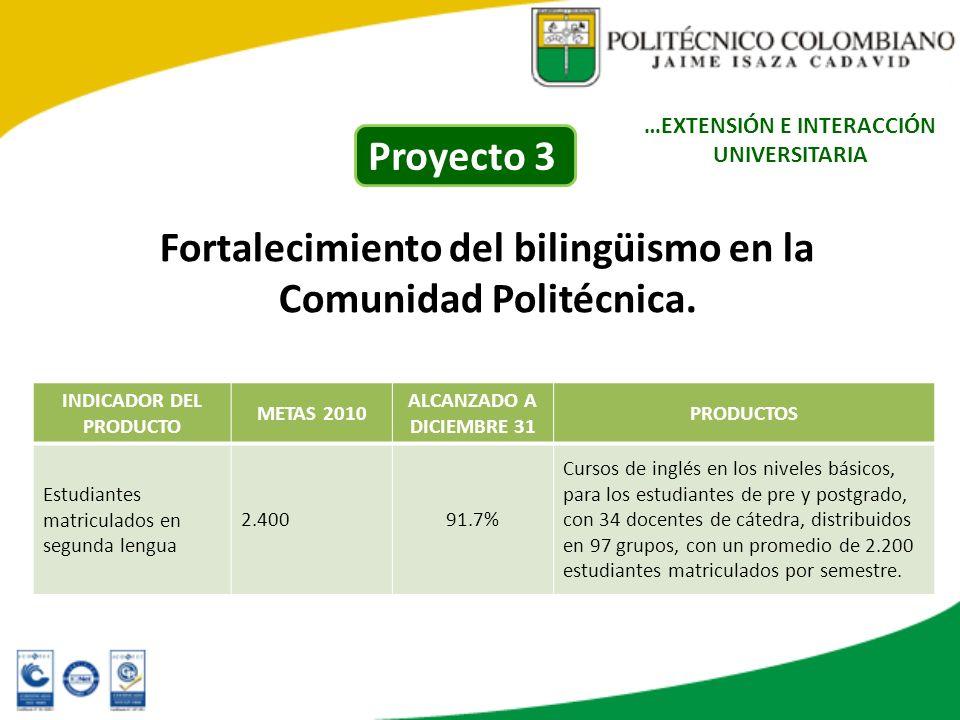 Fortalecimiento del bilingüismo en la Comunidad Politécnica.
