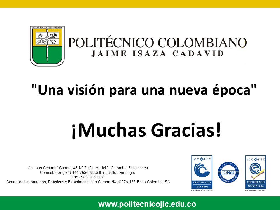 Campus Central * Carrera 48 N° 7-151 Medellín-Colombia-Suramérica