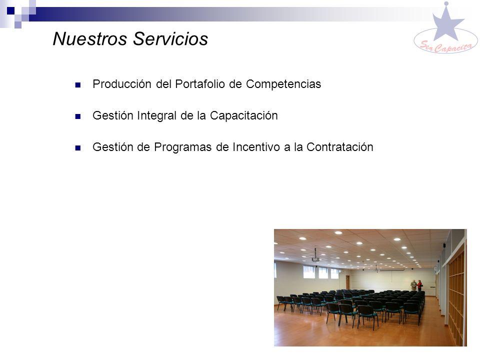 Nuestros Servicios Producción del Portafolio de Competencias