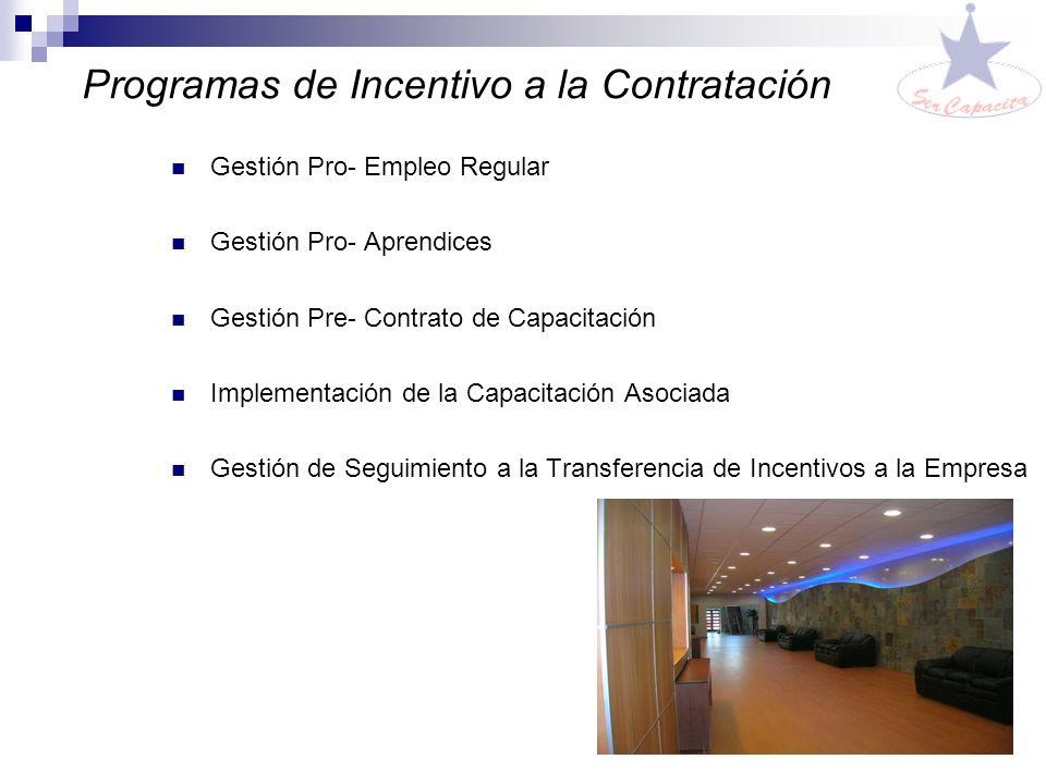Programas de Incentivo a la Contratación