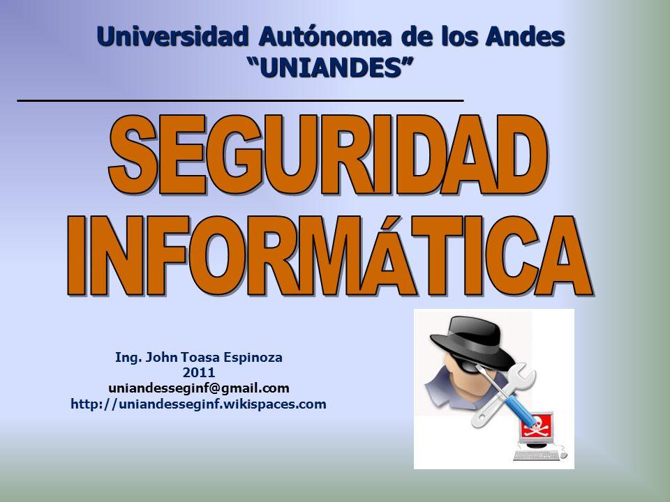 Universidad Autónoma de los Andes UNIANDES Ing. John Toasa Espinoza