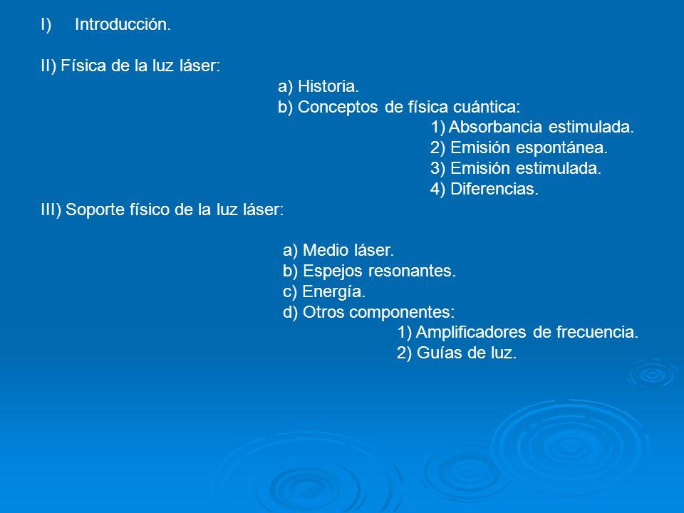 II) Física de la luz láser: a) Historia.