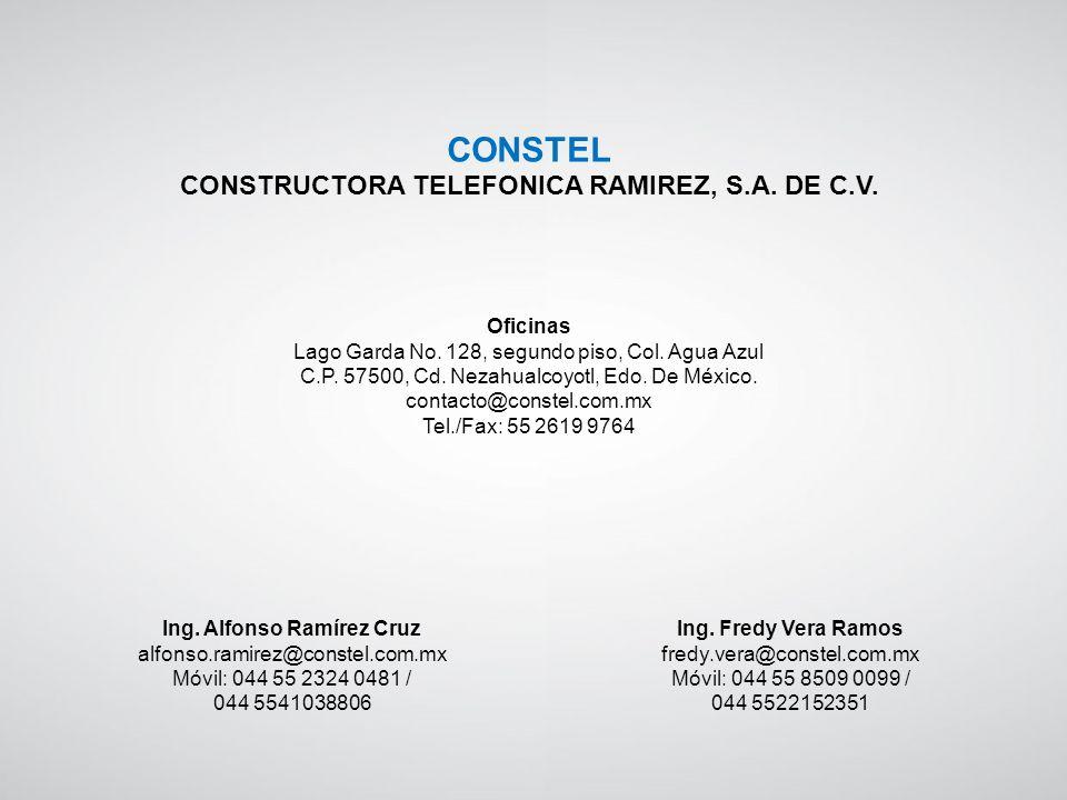 CONSTEL CONSTRUCTORA TELEFONICA RAMIREZ, S.A. DE C.V. Oficinas