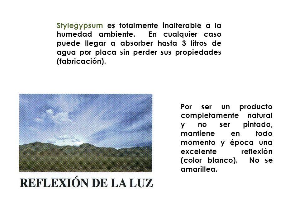 Stylegypsum es totalmente inalterable a la humedad ambiente