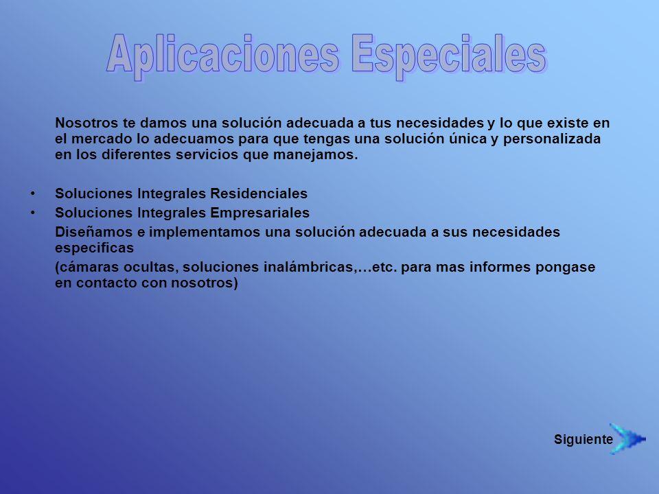 Aplicaciones Especiales
