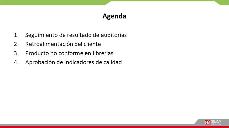 Agenda Seguimiento de resultado de auditorías