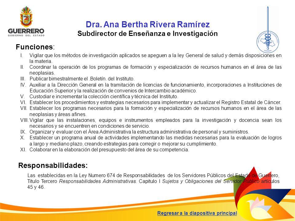 Dra. Ana Bertha Rivera Ramírez