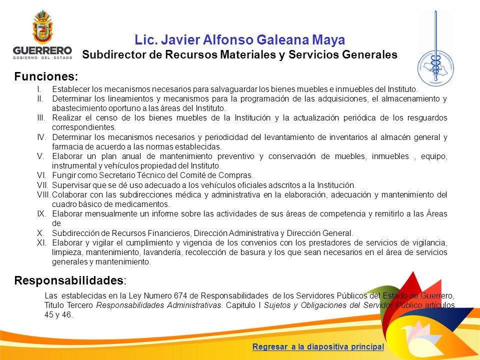 Lic. Javier Alfonso Galeana Maya