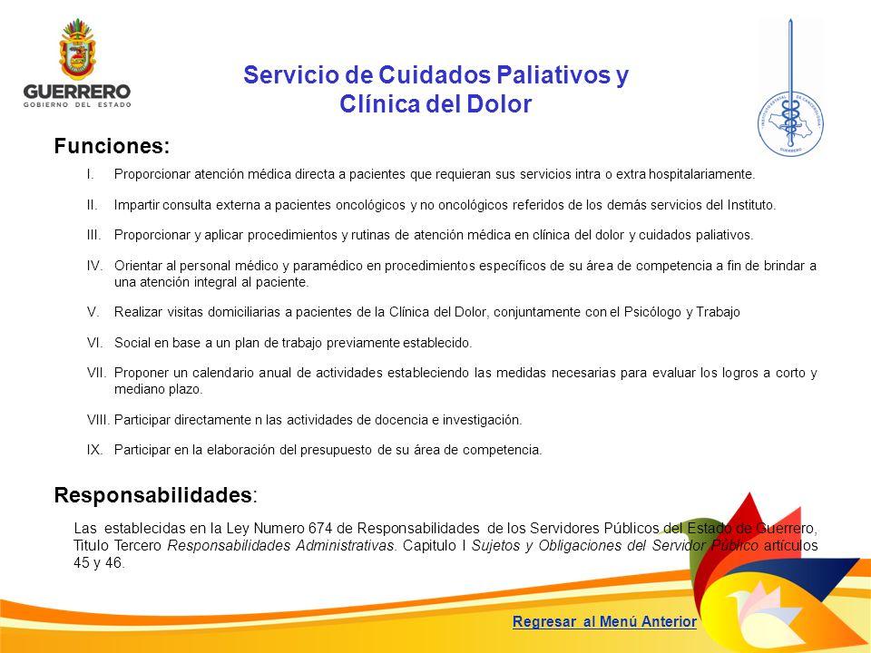 Servicio de Cuidados Paliativos y