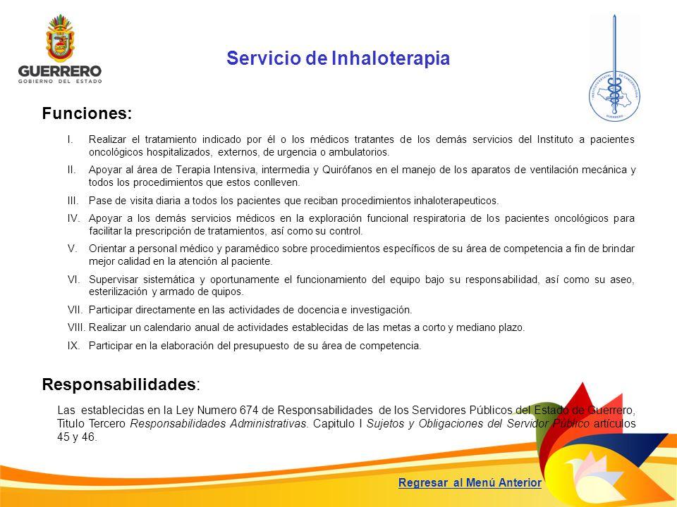Servicio de Inhaloterapia