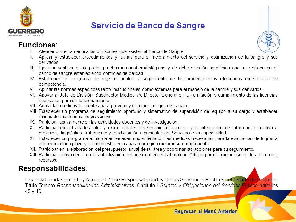 Servicio de Banco de Sangre