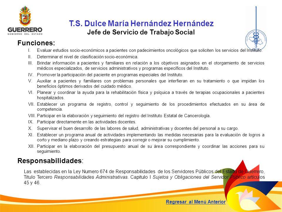 T.S. Dulce María Hernández Hernández