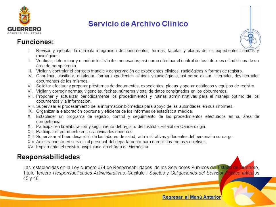 Servicio de Archivo Clínico