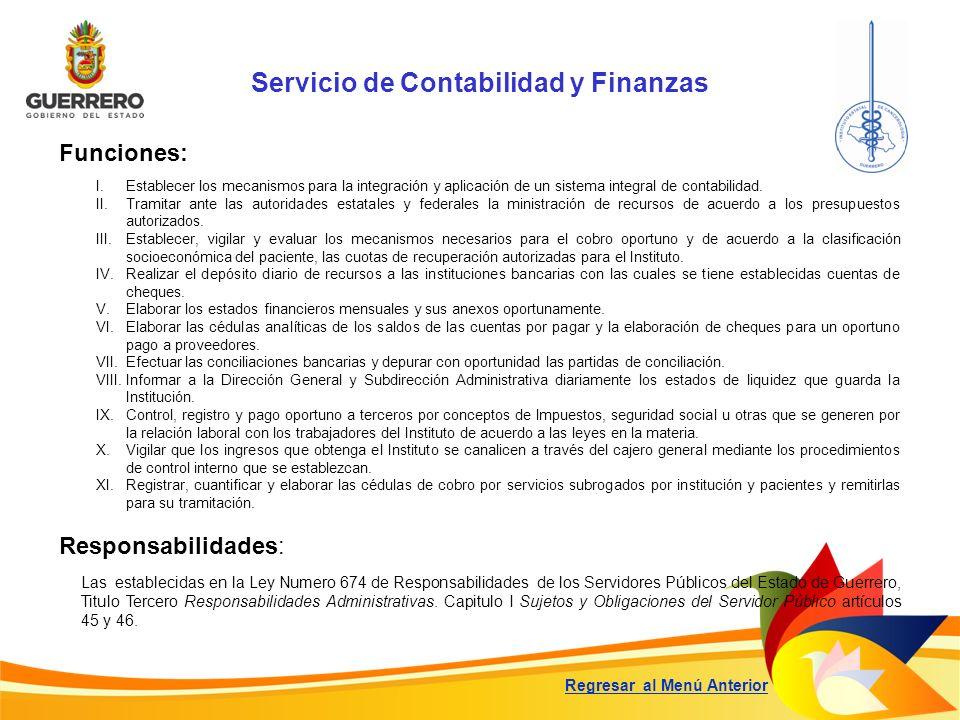Servicio de Contabilidad y Finanzas