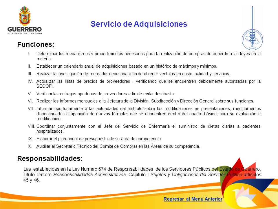 Servicio de Adquisiciones