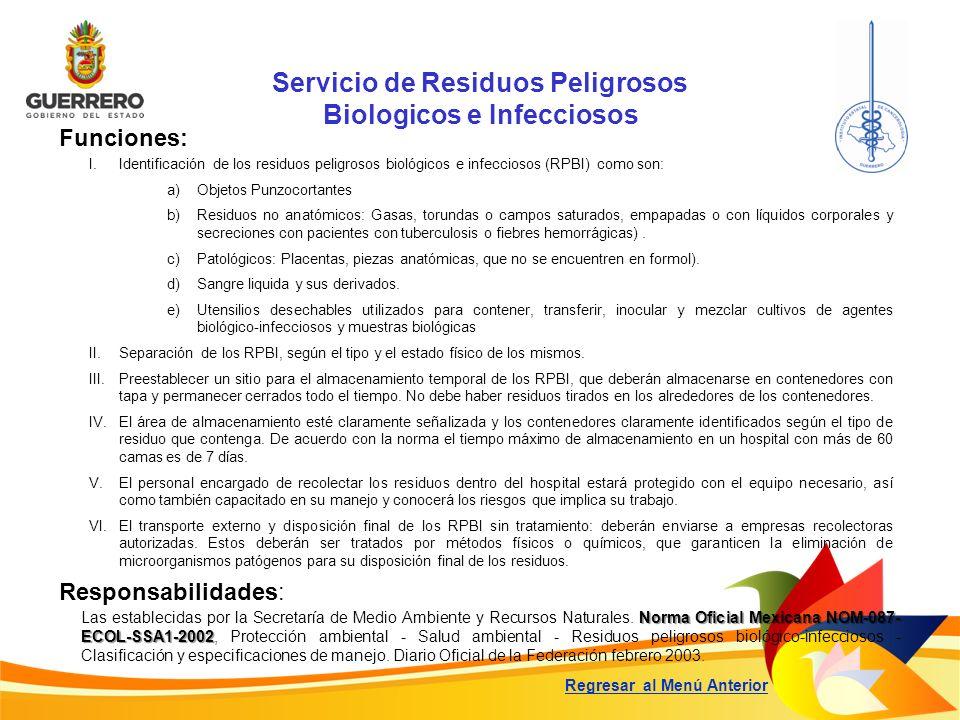 Servicio de Residuos Peligrosos Biologicos e Infecciosos