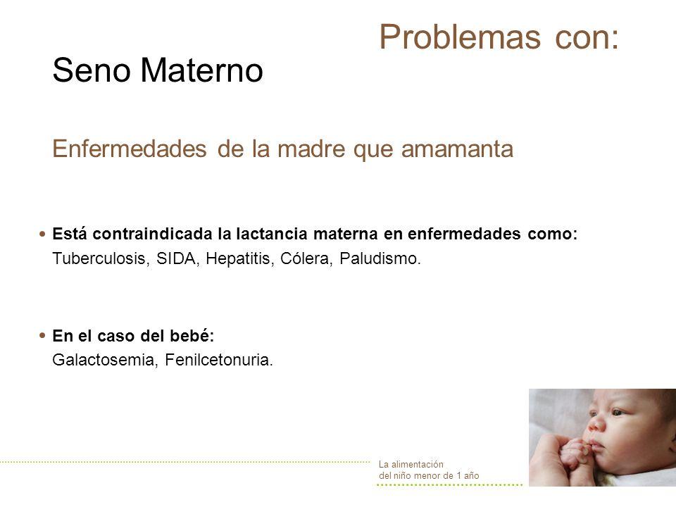 Problemas con: Seno Materno Enfermedades de la madre que amamanta