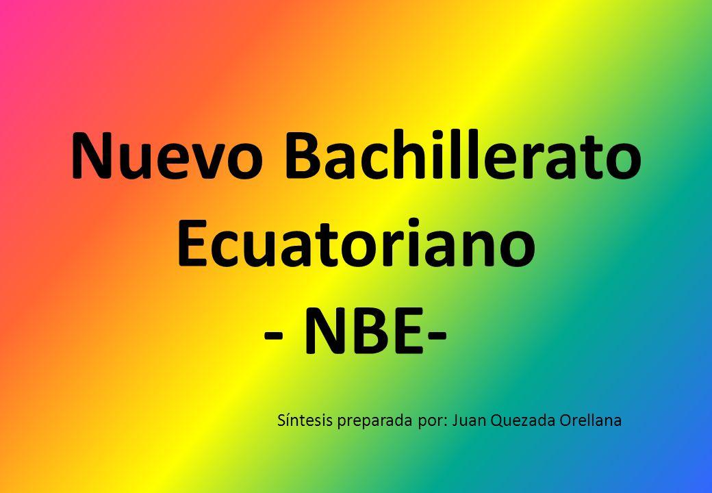Nuevo Bachillerato Ecuatoriano ‐ NBE-