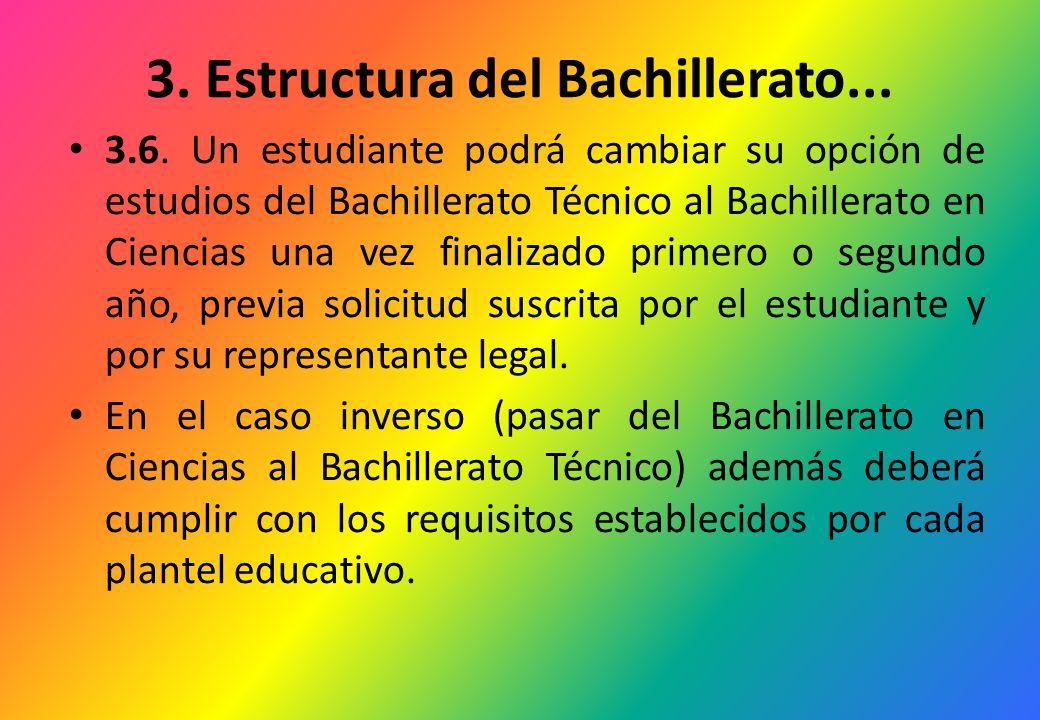 3. Estructura del Bachillerato...