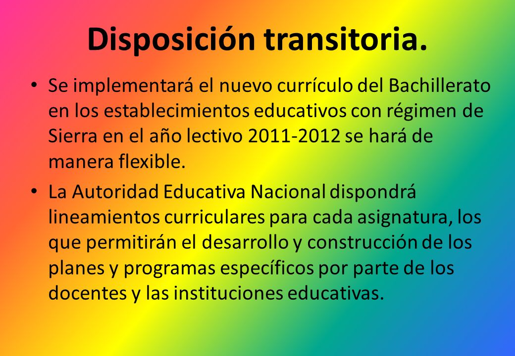Disposición transitoria.
