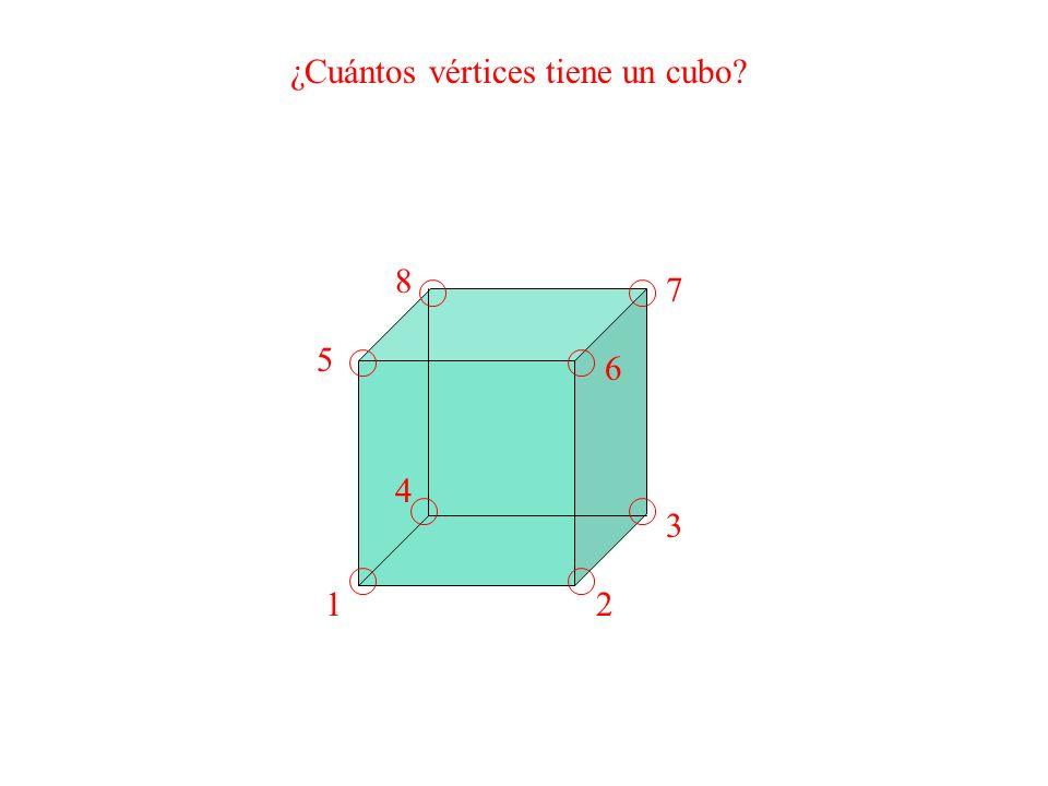 ¿Cuántos vértices tiene un cubo