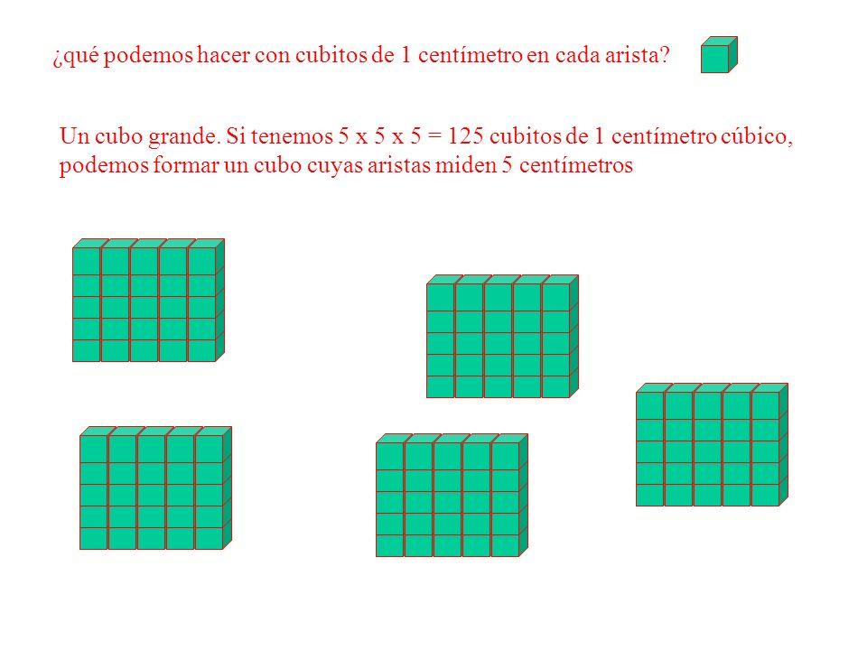 ¿qué podemos hacer con cubitos de 1 centímetro en cada arista