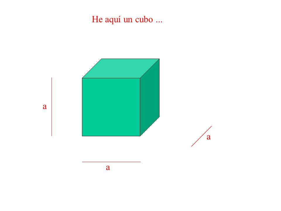 He aquí un cubo ... a a a