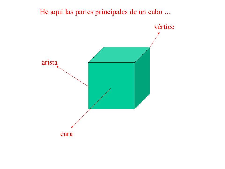 He aquí las partes principales de un cubo ...