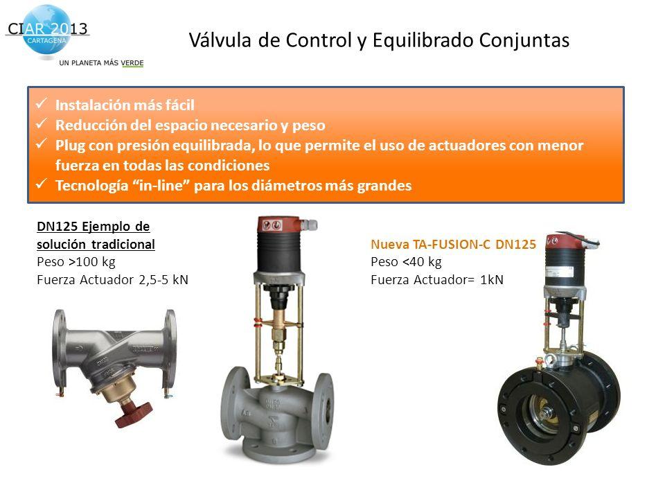Válvula de Control y Equilibrado Conjuntas