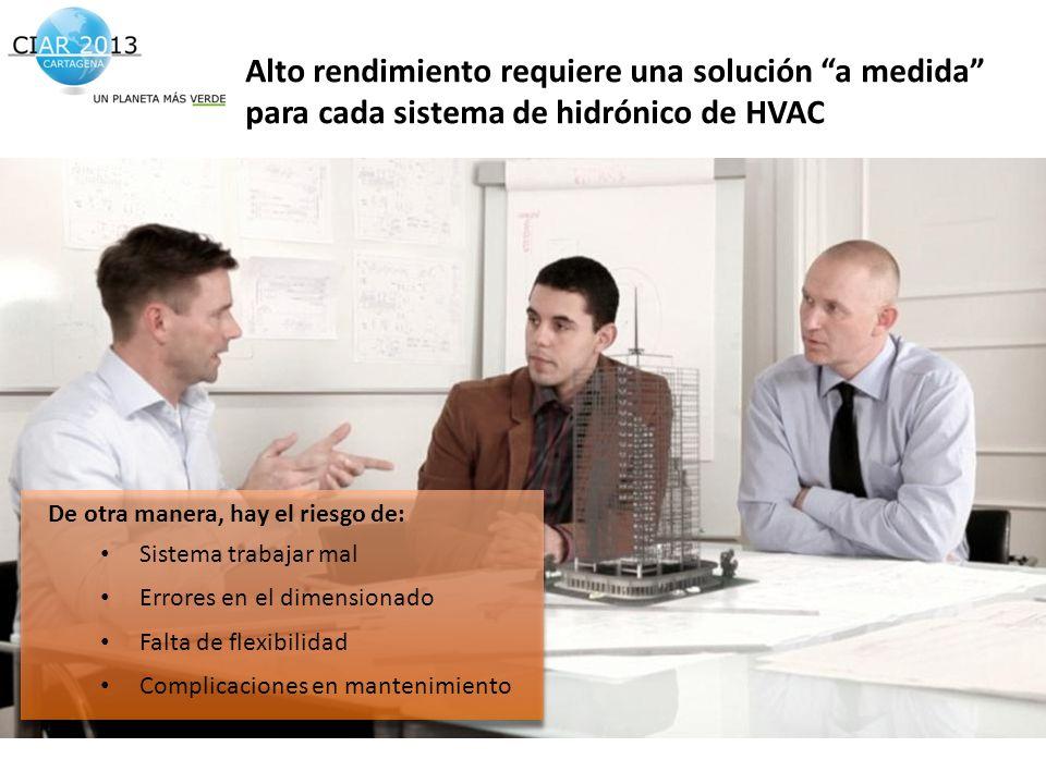Alto rendimiento requiere una solución a medida para cada sistema de hidrónico de HVAC