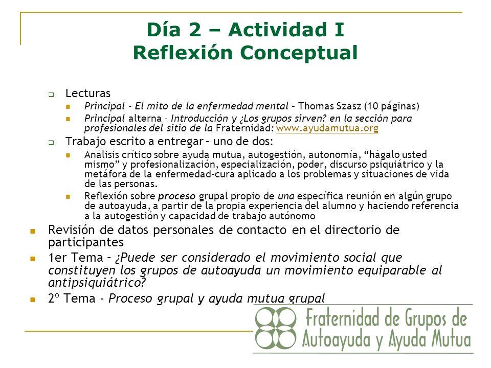 Día 2 – Actividad I Reflexión Conceptual