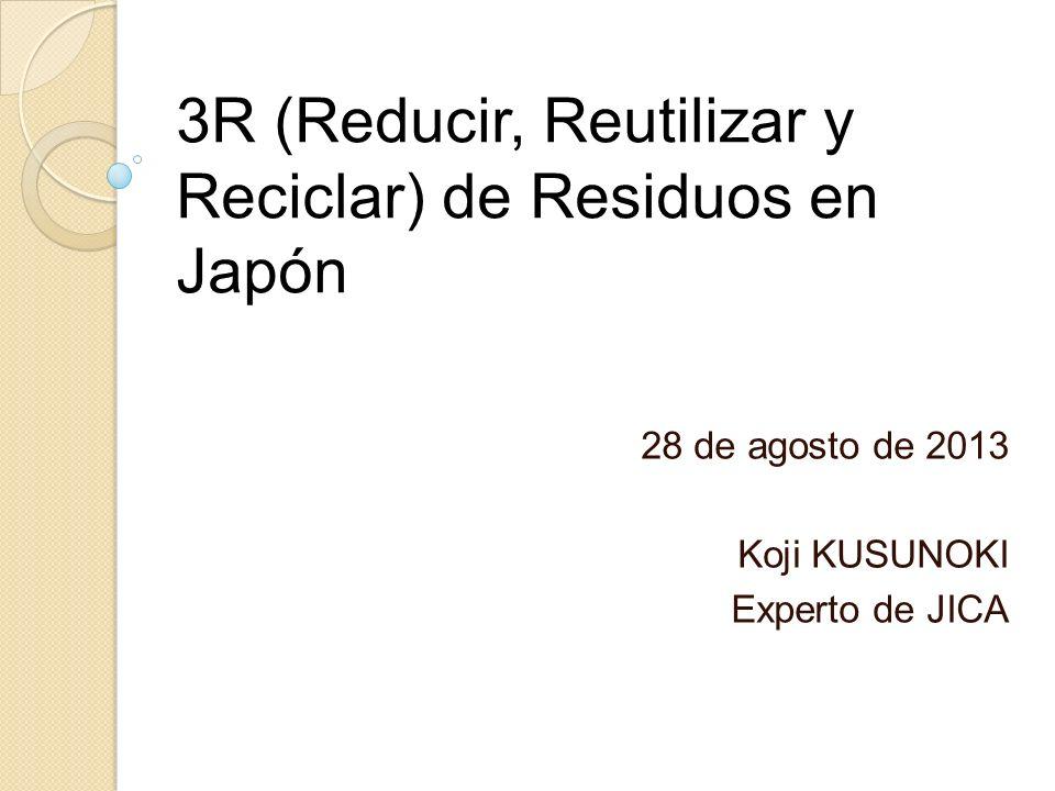 3R (Reducir, Reutilizar y Reciclar) de Residuos en Japón