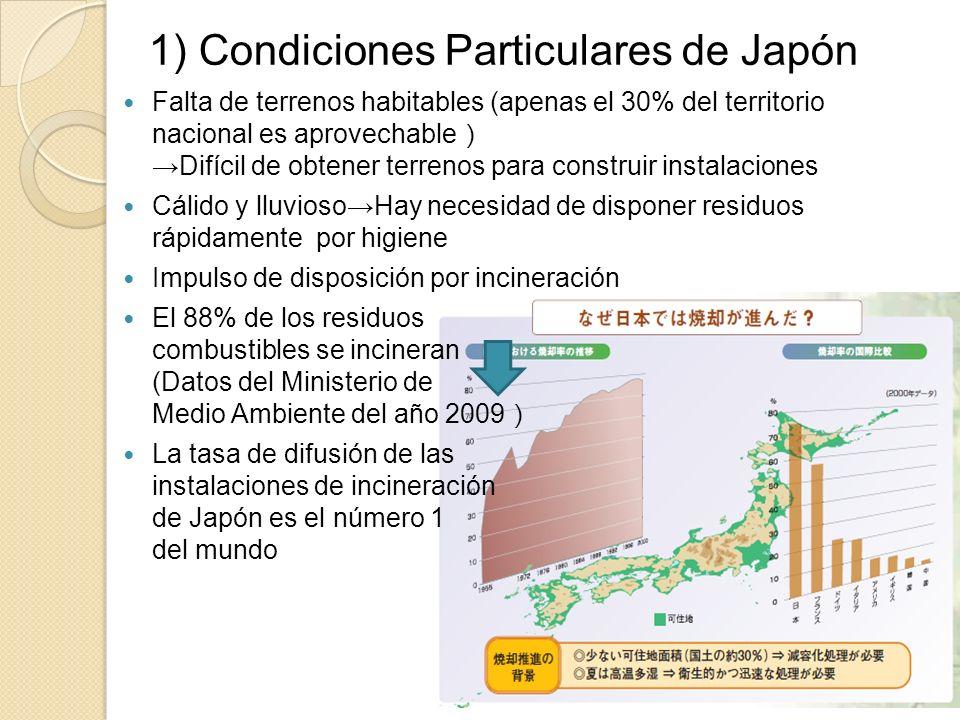 1) Condiciones Particulares de Japón