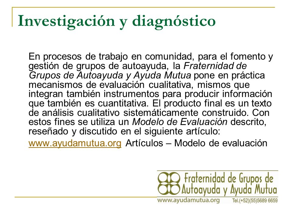 Investigación y diagnóstico