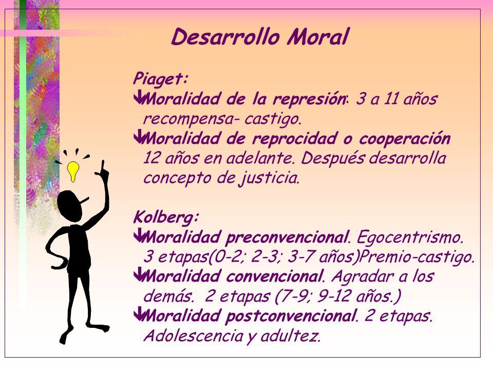 Desarrollo Moral Piaget: Moralidad de la represión: 3 a 11 años