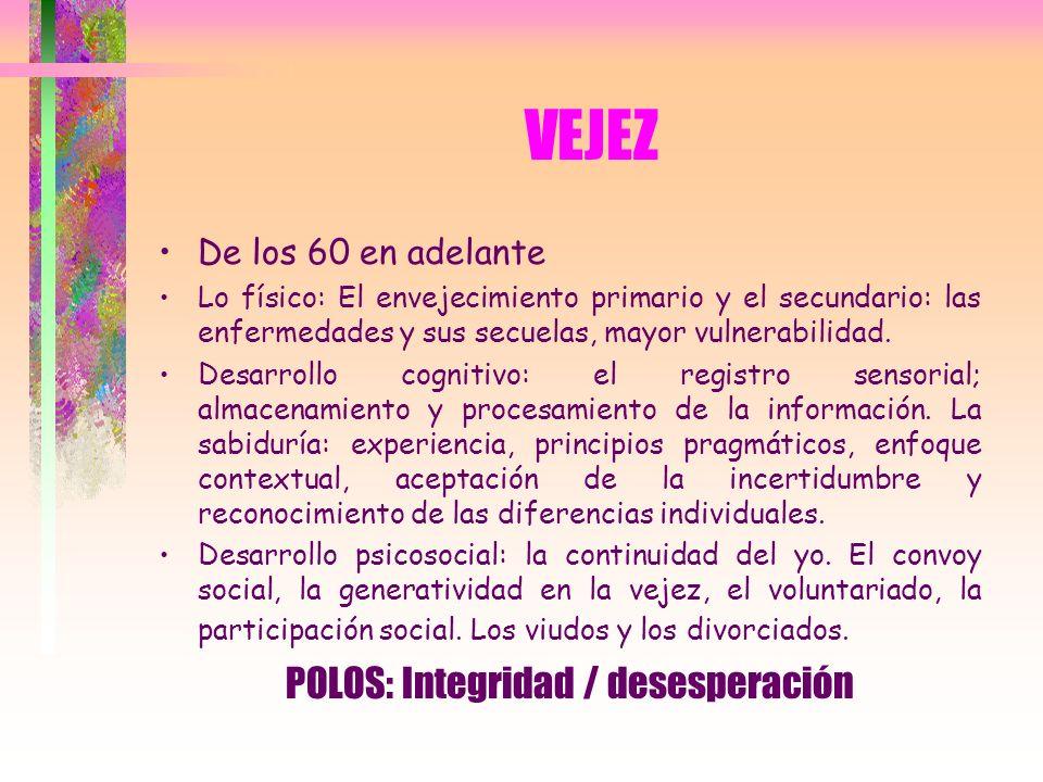 POLOS: Integridad / desesperación