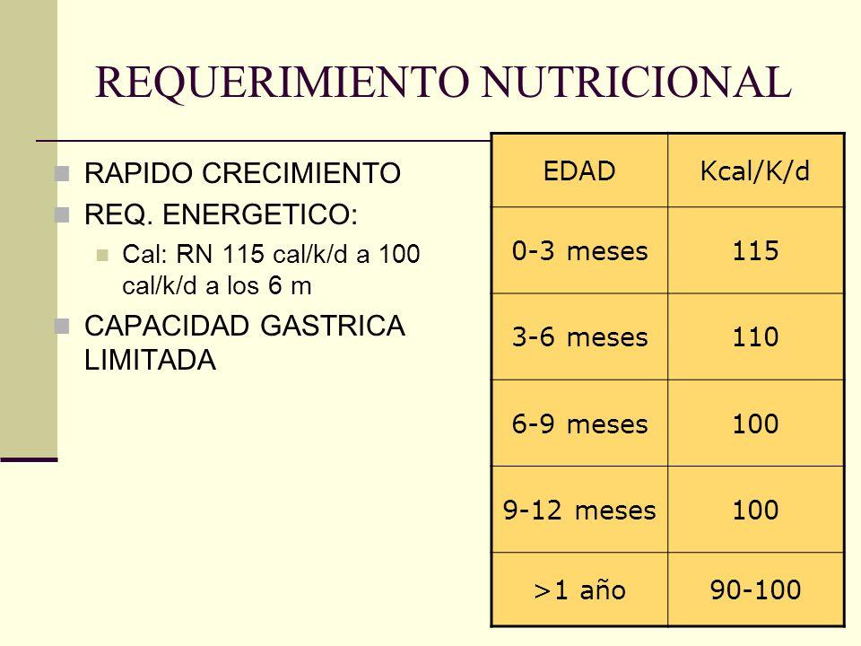 REQUERIMIENTO NUTRICIONAL