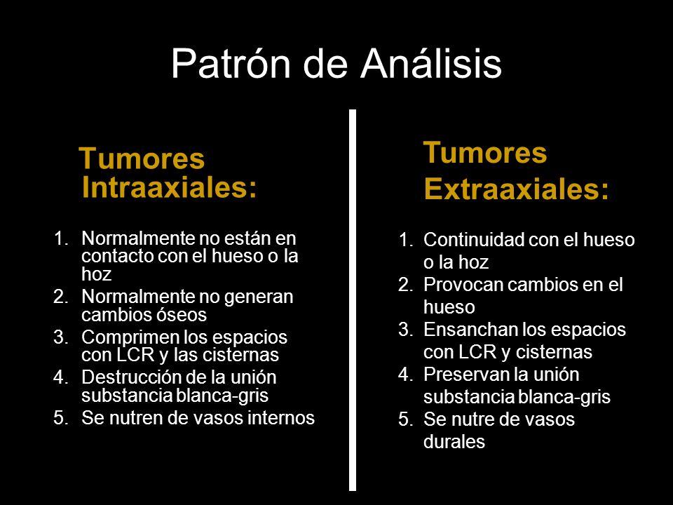Patrón de Análisis Tumores Intraaxiales: Tumores Extraaxiales: