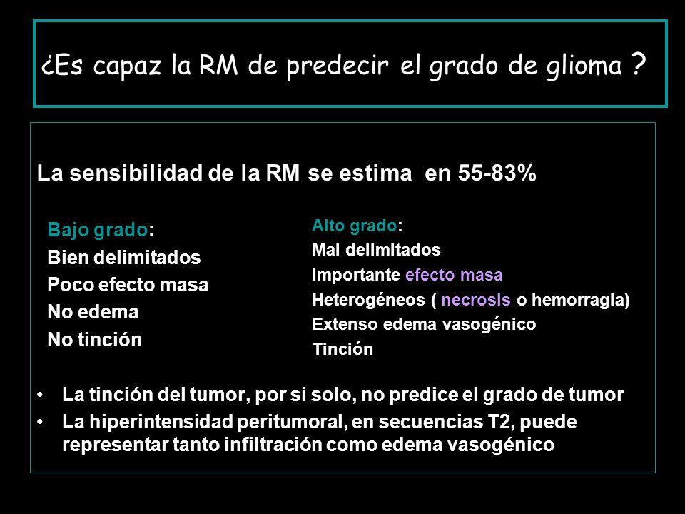 ¿Es capaz la RM de predecir el grado de glioma