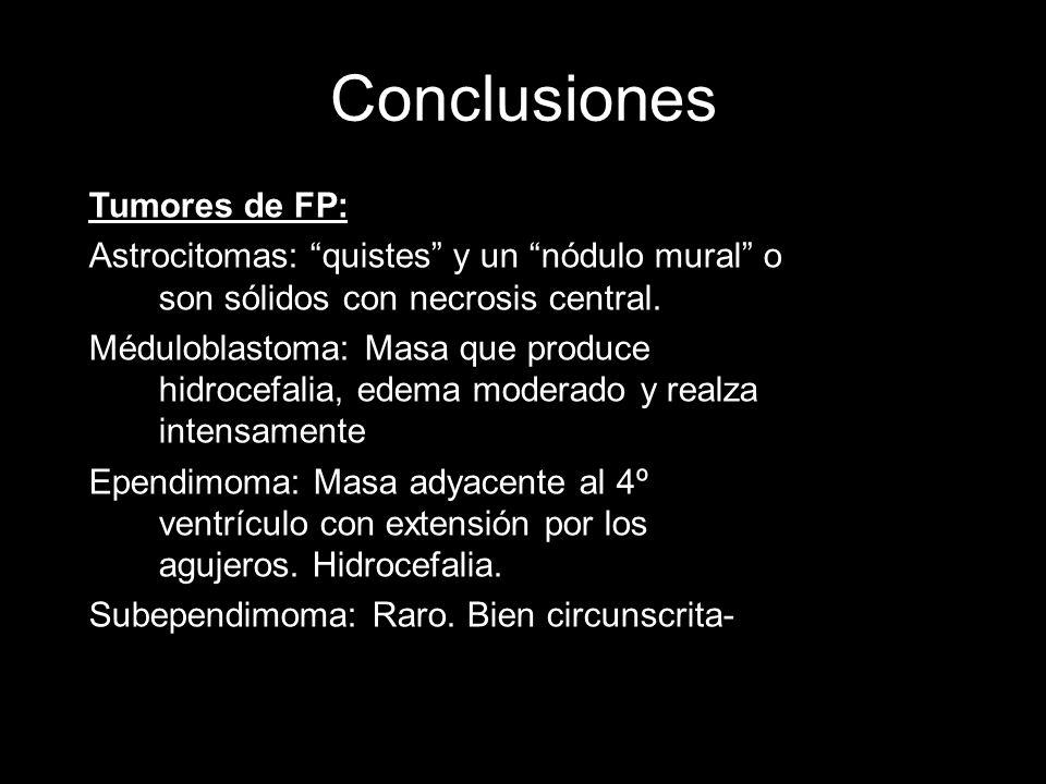 Conclusiones Tumores de FP: