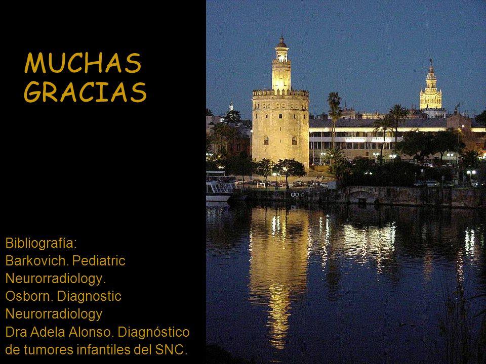 MUCHAS GRACIAS Bibliografía: Barkovich. Pediatric Neurorradiology.