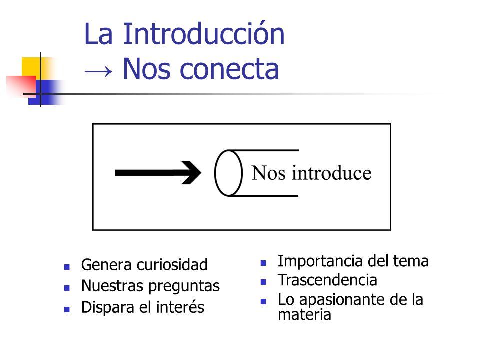 La Introducción → Nos conecta