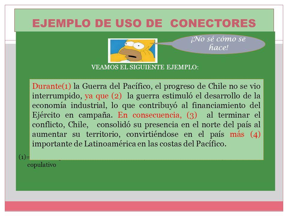 EJEMPLO DE USO DE CONECTORES