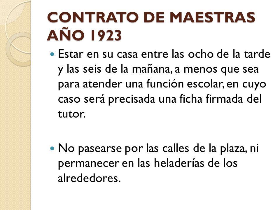 CONTRATO DE MAESTRAS AÑO 1923