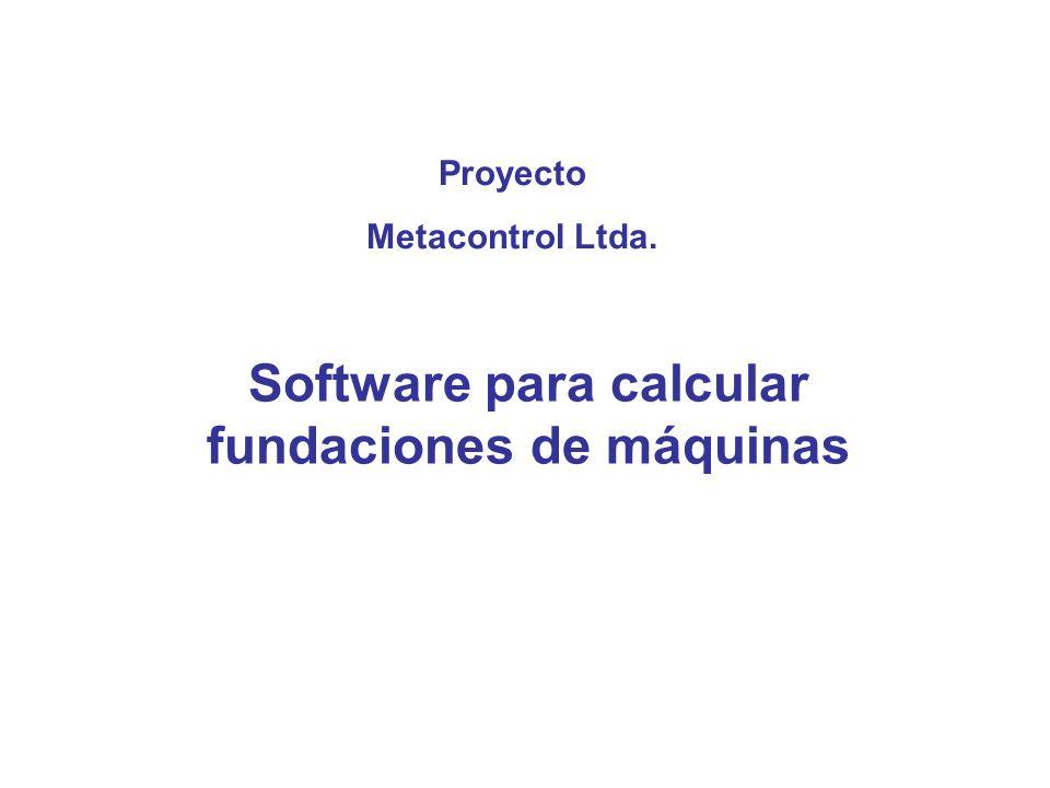 Software para calcular fundaciones de máquinas
