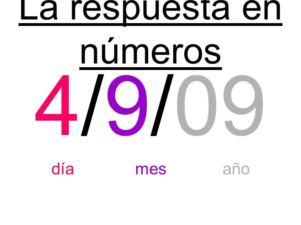 La respuesta en números