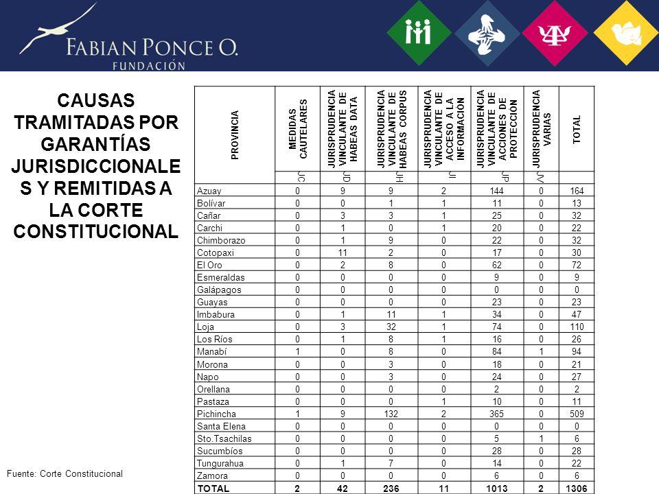 PROVINCIA MEDIDAS CAUTELARES. JURISPRUDENCIA VINCULANTE DE HABEAS DATA. JURISPRUDENCIA VINCULANTE DE HABEAS CORPUS.