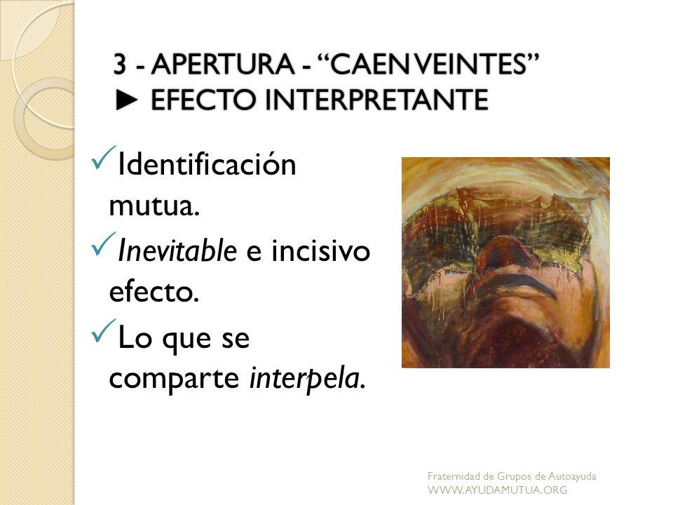3 - APERTURA - CAEN VEINTES ► EFECTO INTERPRETANTE